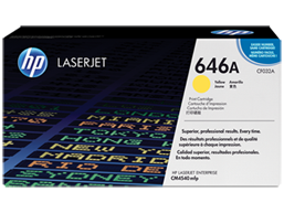 HP 646A Yellow Original LaserJet Toner Cartridge, CF032A