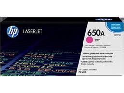 HP 650A Magenta Original LaserJet Toner Cartridge, CE273A