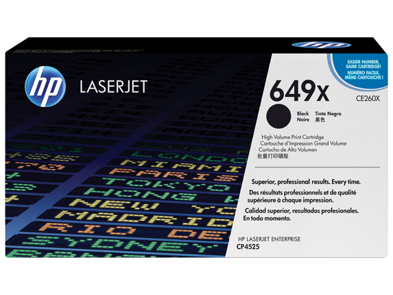 HP 649X High Yield Black Original LaserJet Toner Cartridge, CE260X