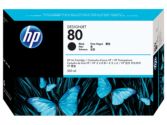 HP 80 350-ml Black DesignJet Ink Cartridge