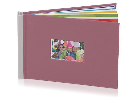 HP Photo Book 5 x 7 in (Mauve/Stone) - Center