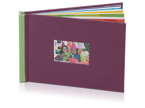 HP Photo Book 5 x 7 in (Plum/Sage) - Center