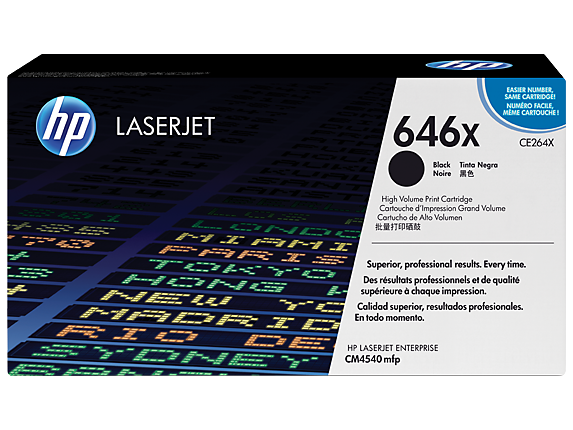 HP 646X High Yield Black Original LaserJet Toner Cartridge, CE264X