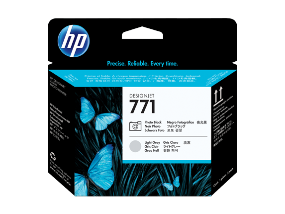 HP 771 Photo Black/Light Gray DesignJet Printhead - Center
