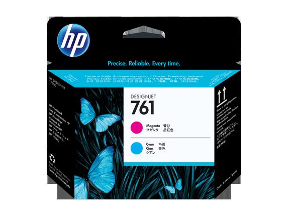HP 761 Magenta/Cyan DesignJet Printhead - Center