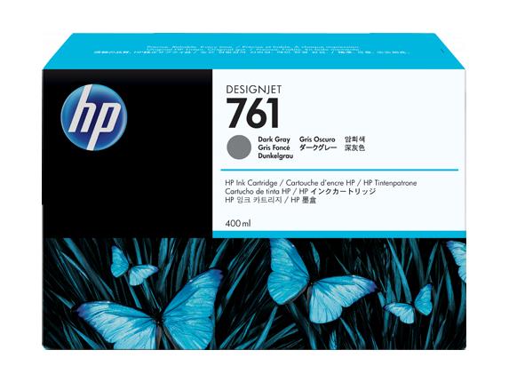 HP 761 400-ml Dark Gray DesignJet Ink Cartridge - Center