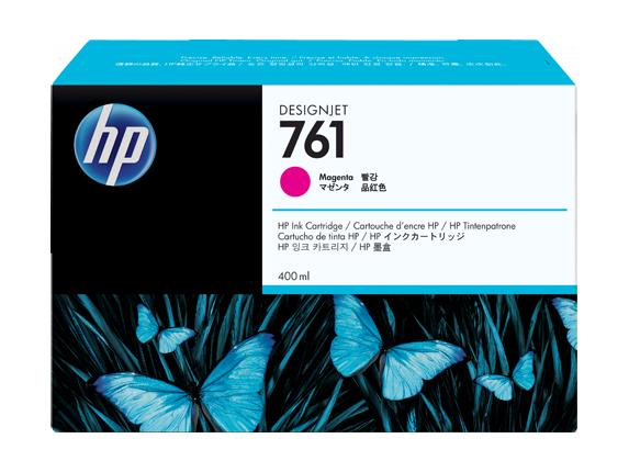 HP 761 400-ml Magenta DesignJet Ink Cartridge - Center