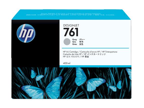 HP 761 400-ml Gray DesignJet Ink Cartridge - Center