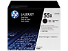 HP 55X 2-pack High Yield Black Original LaserJet Toner Cartridges, CE255XD - Center