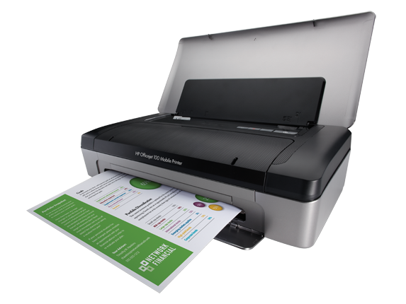HP Officejet 100 Mobile Printer - L411a - Left