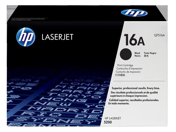 HP 16A Black Original LaserJet Toner Cartridge, Q7516A - Center