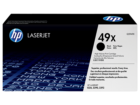 HP 49X High Yield Black Original LaserJet Toner Cartridge, Q5949X