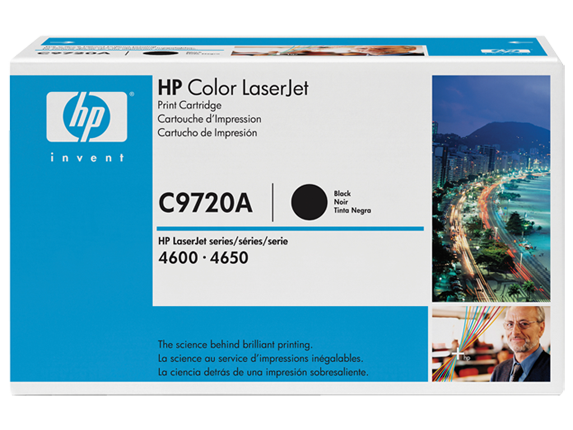 HP 641A Black Original LaserJet Toner Cartridge, C9720A