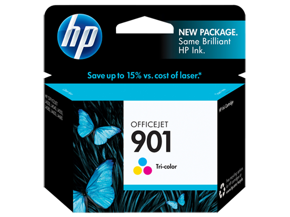 HP 901 Tri-color Original Ink Cartridge - Center
