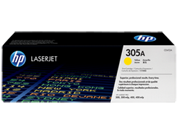 HP 305A Yellow Original LaserJet Toner Cartridge, CE412A