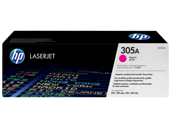 HP 305A Magenta Original LaserJet Toner Cartridge, CE413A