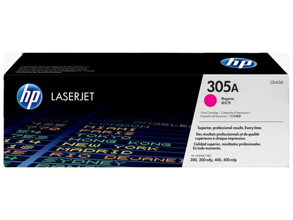 HP 305A Magenta Original LaserJet Toner Cartridge, CE413A - Center