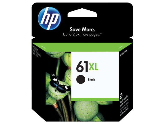 HP 61XL/61 High Yield Black and Standard Tricolor Ink Cartridge Bundle - Left