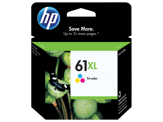 HP 61XL High Yield Tri-color Original Ink Cartridge - Center