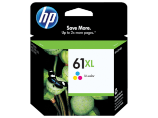 HP 61XL High Yield Tri-color Original Ink Cartridge, CH564WN#140