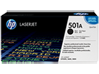 HP 501A Black Original LaserJet Toner Cartridge, Q6470A