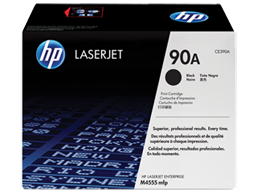 HP 90A Black Original LaserJet Toner Cartridge, CE390A