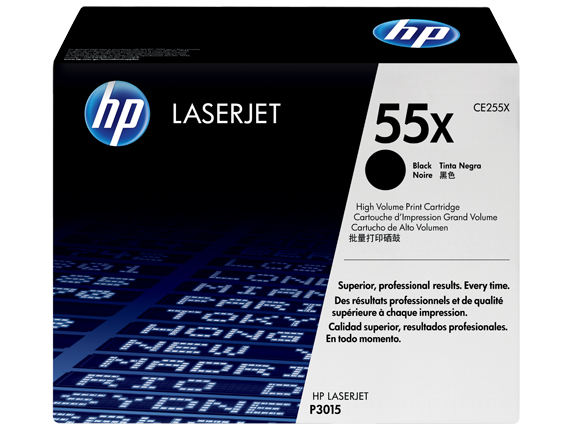 HP 55X High Yield Black Original LaserJet Toner Cartridge, CE255X