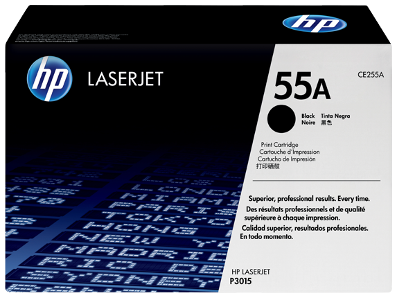 HP 55A Black Original LaserJet Toner Cartridge, CE255A