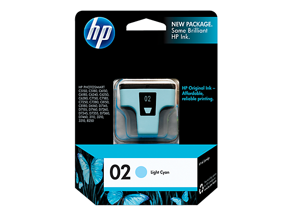 HP 02 Light Cyan Original Ink Cartridge