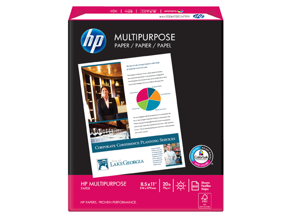 HP Multipurpose Paper-5 reams/Letter/8.5 x 11 in
