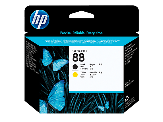 HP 88 Black and Yellow Original Printhead - Center