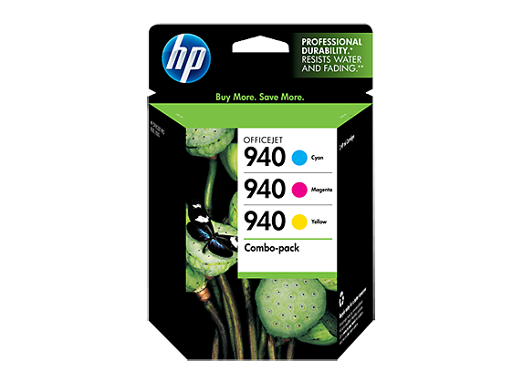 HP 940 3-pack Cyan/Magenta/Yellow Original Ink Cartridges