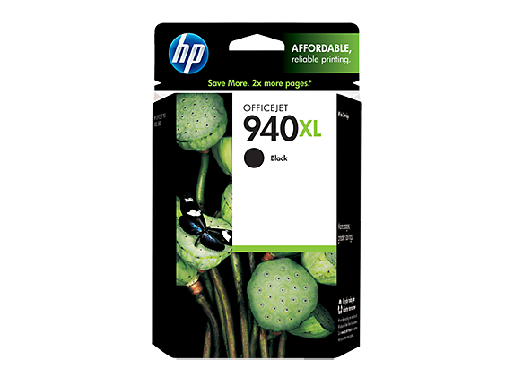 HP 940XL High Yield Black Original Ink Cartridge - Center