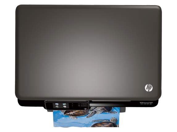 HP Photosmart 5512 e-All-in-One Printer - B111a - Top view closed