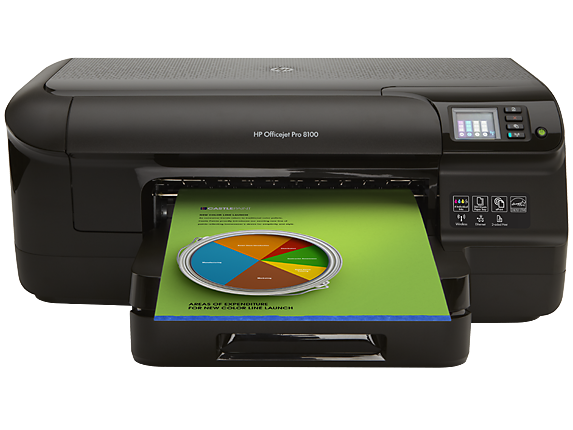 HP Officejet Pro 8100 ePrinter - N811a/N811d - Center