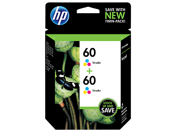 HP 60 2-pack Tri-color Original Ink Cartridges