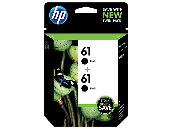 HP 61 2-pack Black Original Ink Cartridges