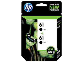 HP 61 2-pack Black Original Ink Cartridges, CZ073FN#140
