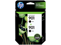 HP 901 2-pack Black Original Ink Cartridges