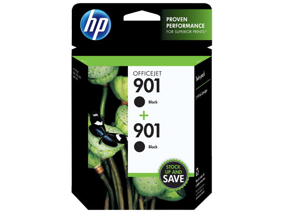 HPR 901 2 Pack Black Original Ink Cartridges