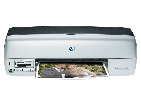 HP Photosmart 7260v Photo Printer - Center