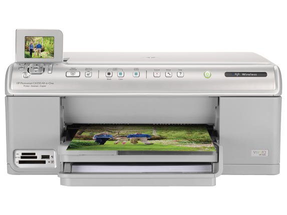 HP Photosmart C6350 All-in-One Printer - Center