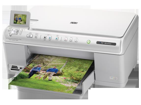 HP Photosmart C6350 All-in-One Printer - Left