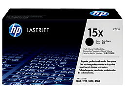 HP 15X High Yield Black Original LaserJet Toner Cartridge, C7115X