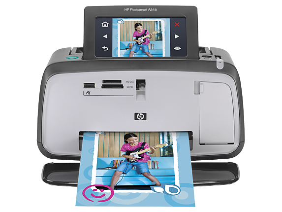 HP Photosmart A646 Compact Photo Printer - Center