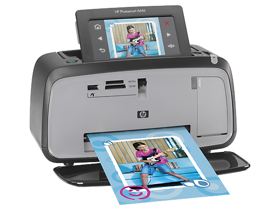 HP Photosmart A646 Compact Photo Printer - Right