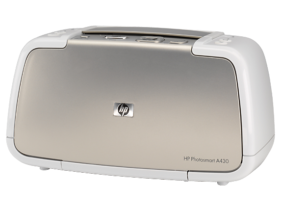 HP Photosmart A430 Portable Photo Printer - Left