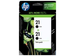 HP 21 2-pack Black Original Ink Cartridges