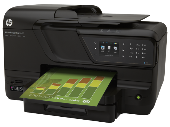HP Officejet Pro 8600 e-All-in-One Printer - N911a - Left