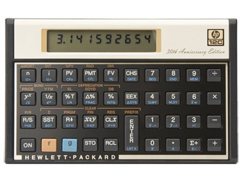 HP 12C 30th Anniversary Financial Calculator